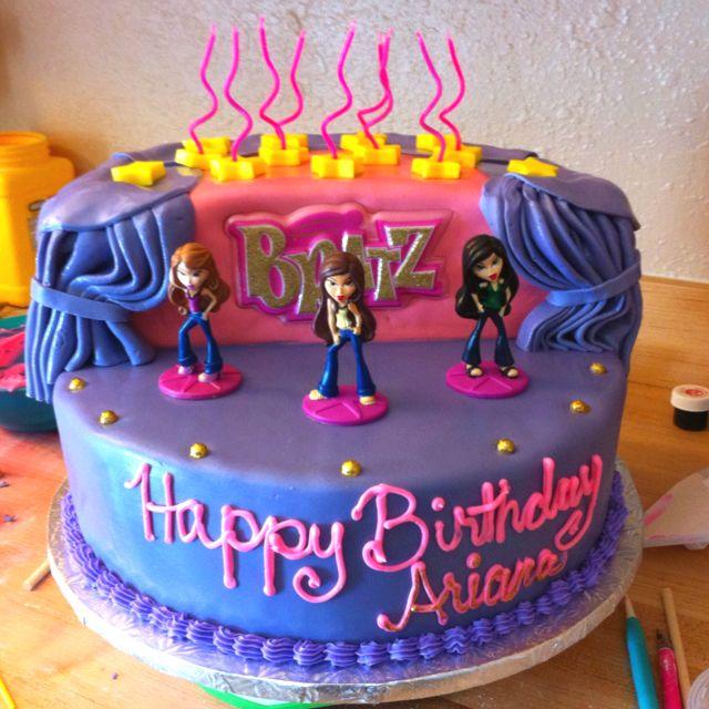 Cool Bratz Birthday Cake Con Imagenes Bratz Tortas Para Ninos Tartas Personalised Birthday Cards Akebfashionlily Jamesorg
