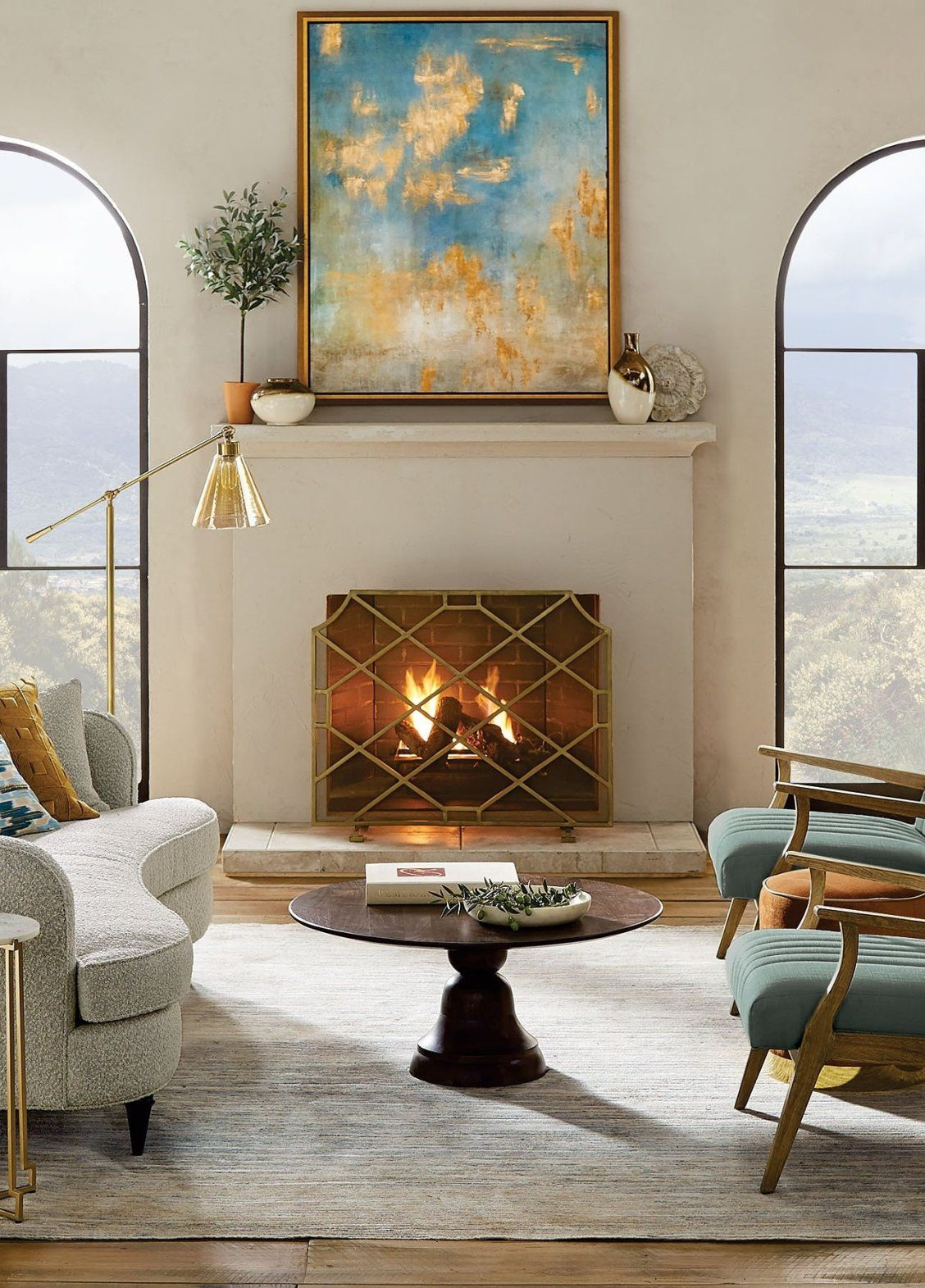 Beckett Fireplace Screen In 2020 Interior Design Living Room