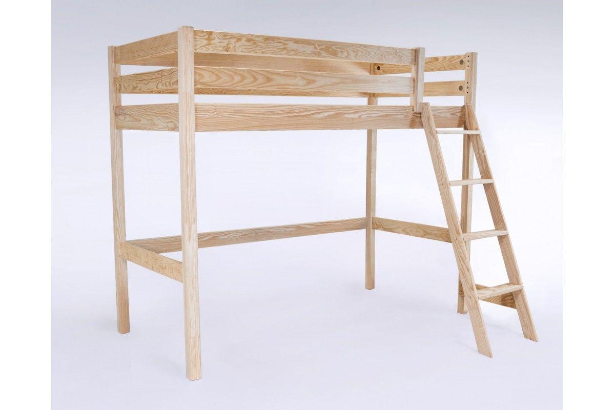 Lit haut abc avec échelle inclinée lit compact pinterest