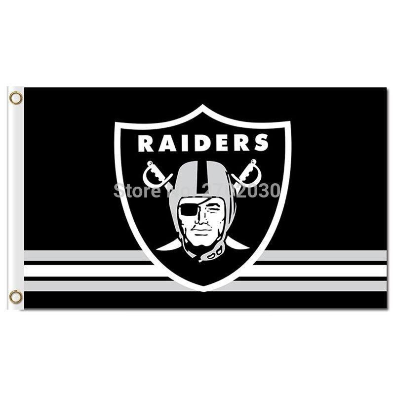 Oakland Raiders Flag 3ft X 5ft Polyester Banner 90x150cm Raider Nation Premium Team World Series Oakland Raiders Ban Raiders Flag Raider Nation Oakland Raiders