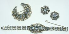 Faux Alexandrite 3-piece parure by KRAMER - Highly Collectible Costume Jewelry