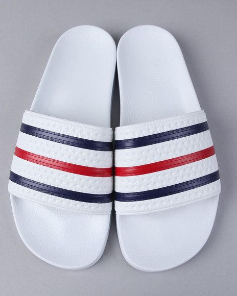 new styles 724b7 54ffc Buy Adidas Men Adilette Sandals in White and Wear It!