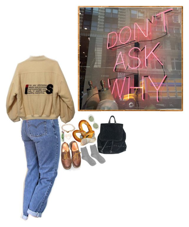 """357. dazed"" by poolboy ❤ liked on Polyvore featuring Levi's, Tt Collection, Pearls Before Swine, Dr. Martens, France Luxe and Acne Studios"