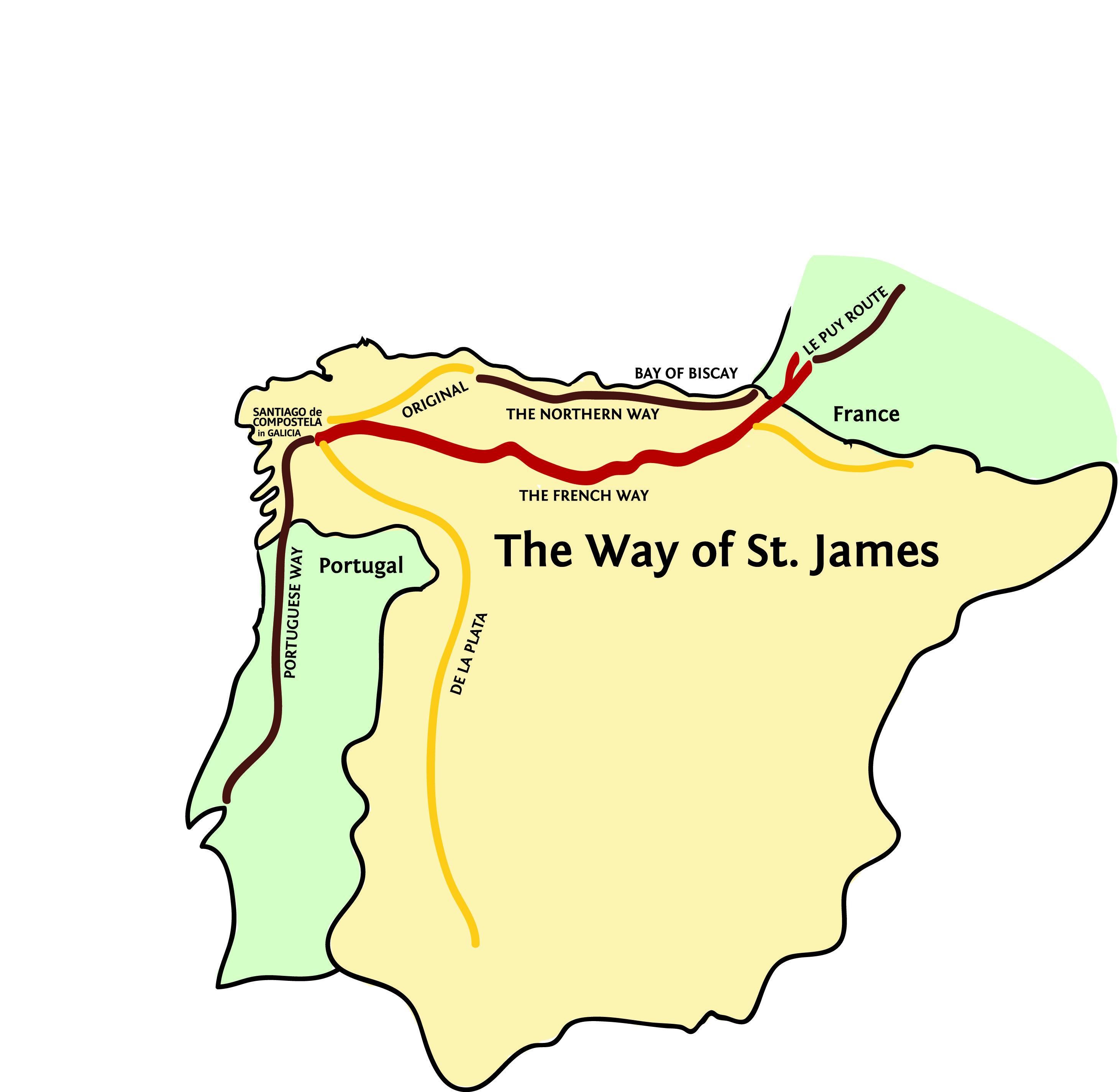 Way-of-St.-James- camino de santiago The Way of St. James, St ... on