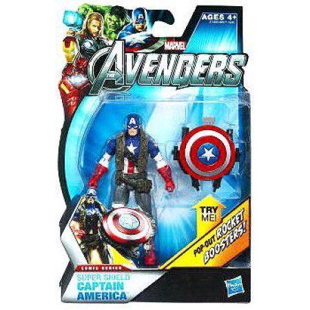 Marvel Comic Series Super Shield Captain America Action Figure, Multicolor