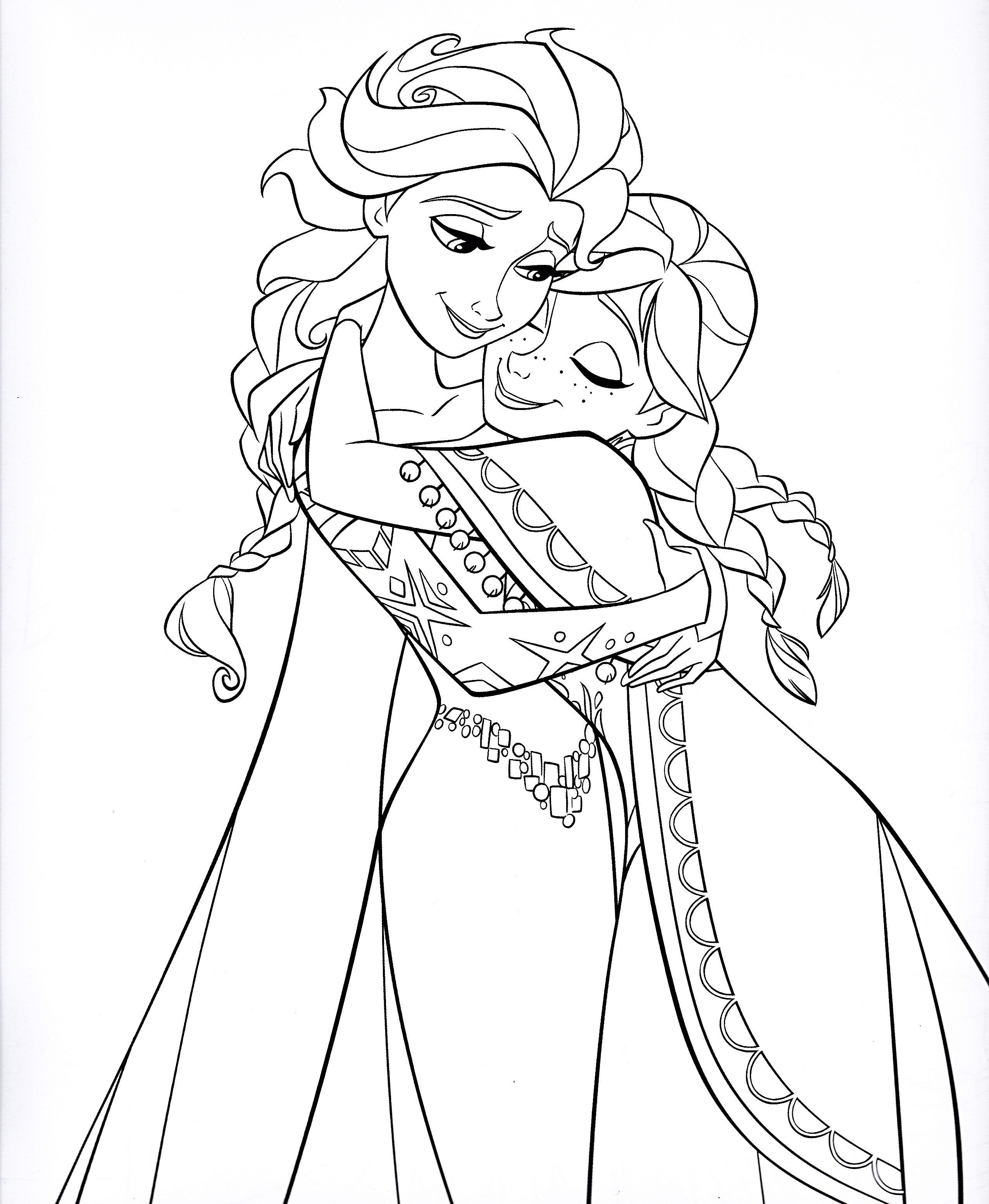 Disney Princess Coloring Pages Frozen Anna Through the