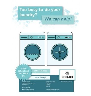 A6 Laundry Leaflets Printing Flyers Designs Washing Flyer