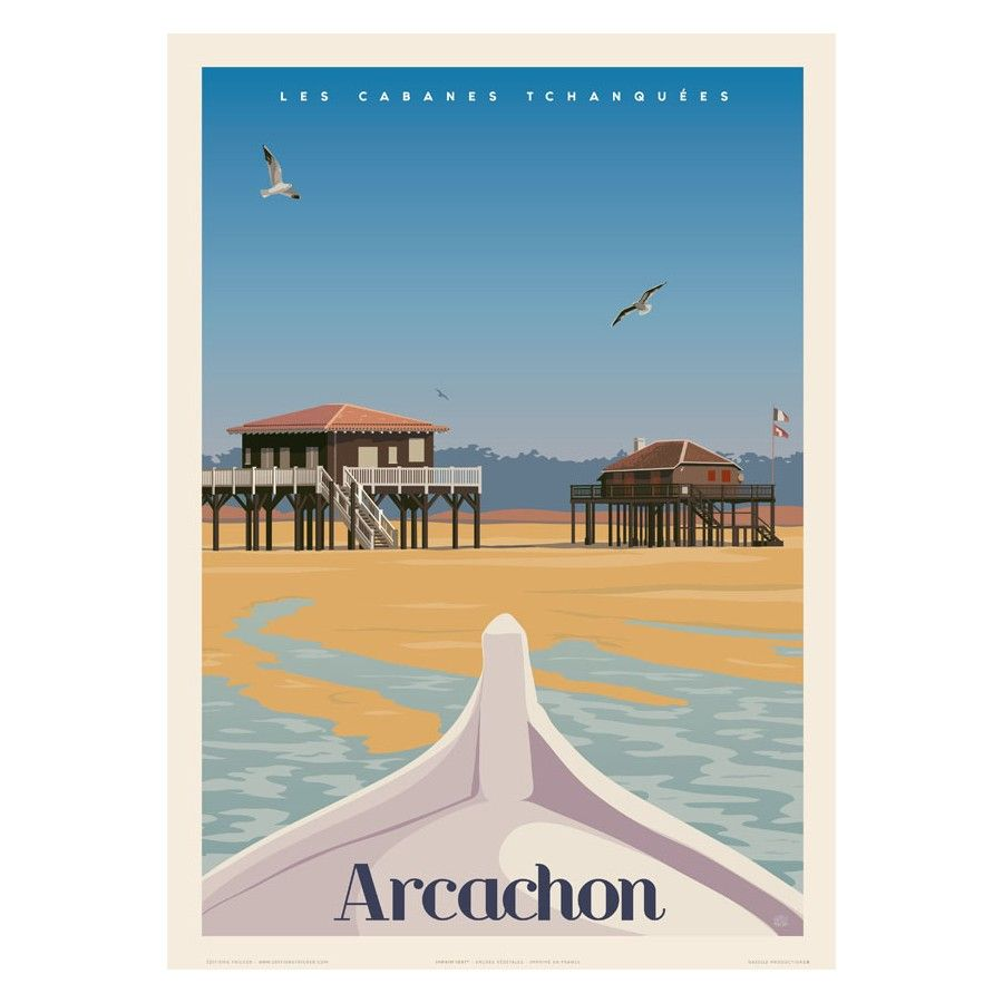 Arcachon Les Cabanes Tchanquees L Ete Editions Fricker