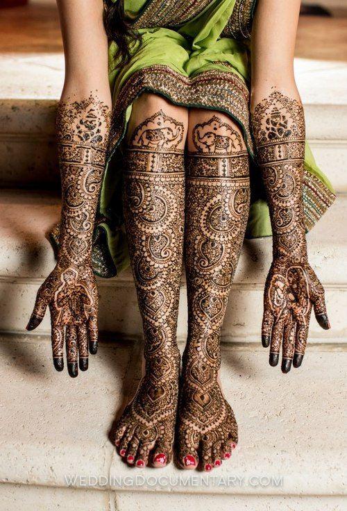 henna mehendi design on hands and feet for brides, bridal henna