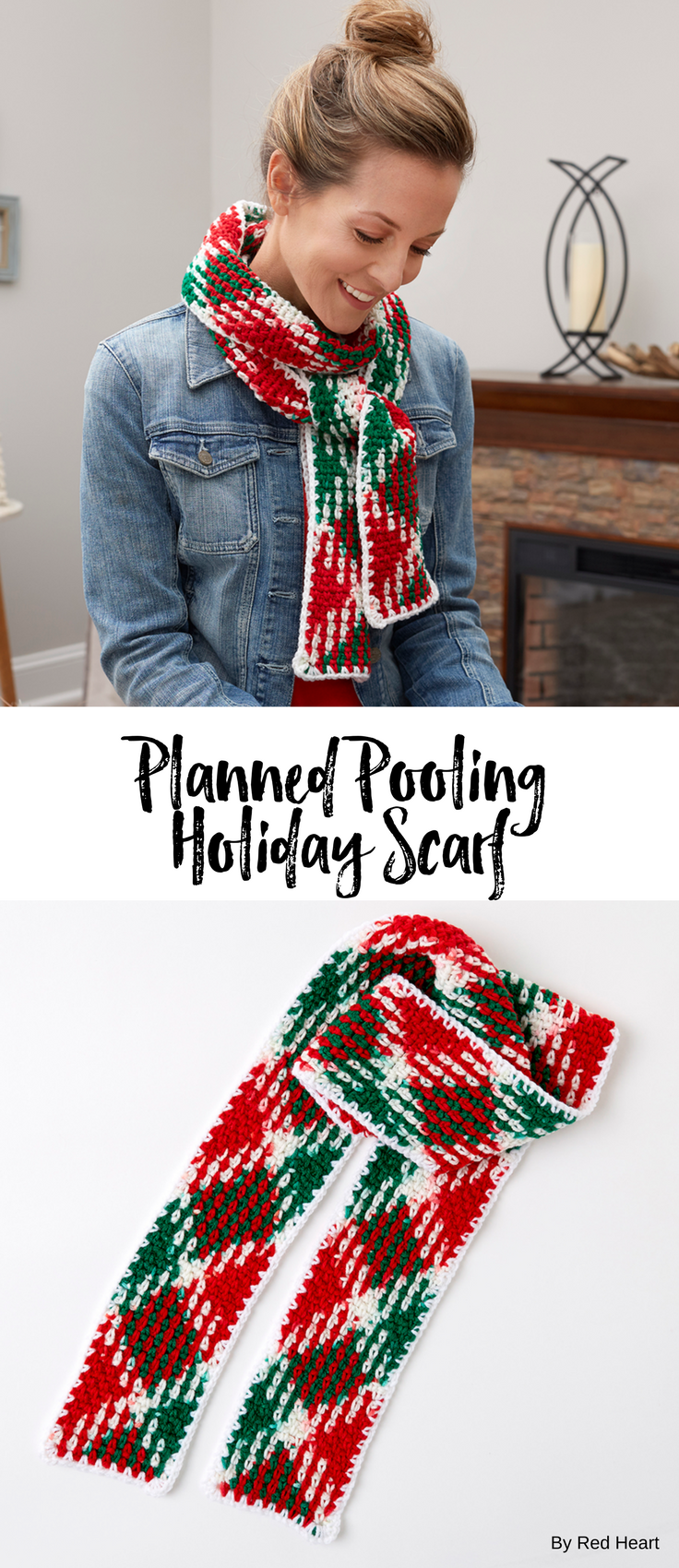 Planned Pooling Holiday Scarf free crochet pattern in Super Saver ...