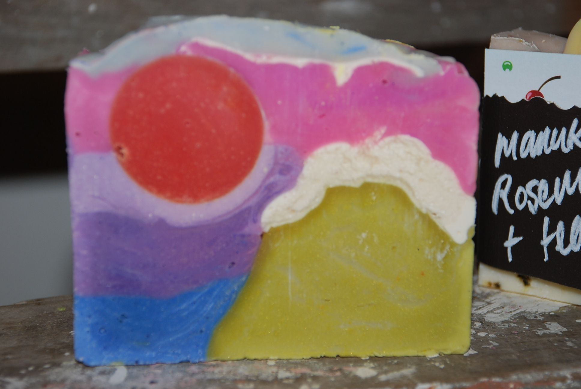 Picture soap, Mountains to Sea By A cake of soap