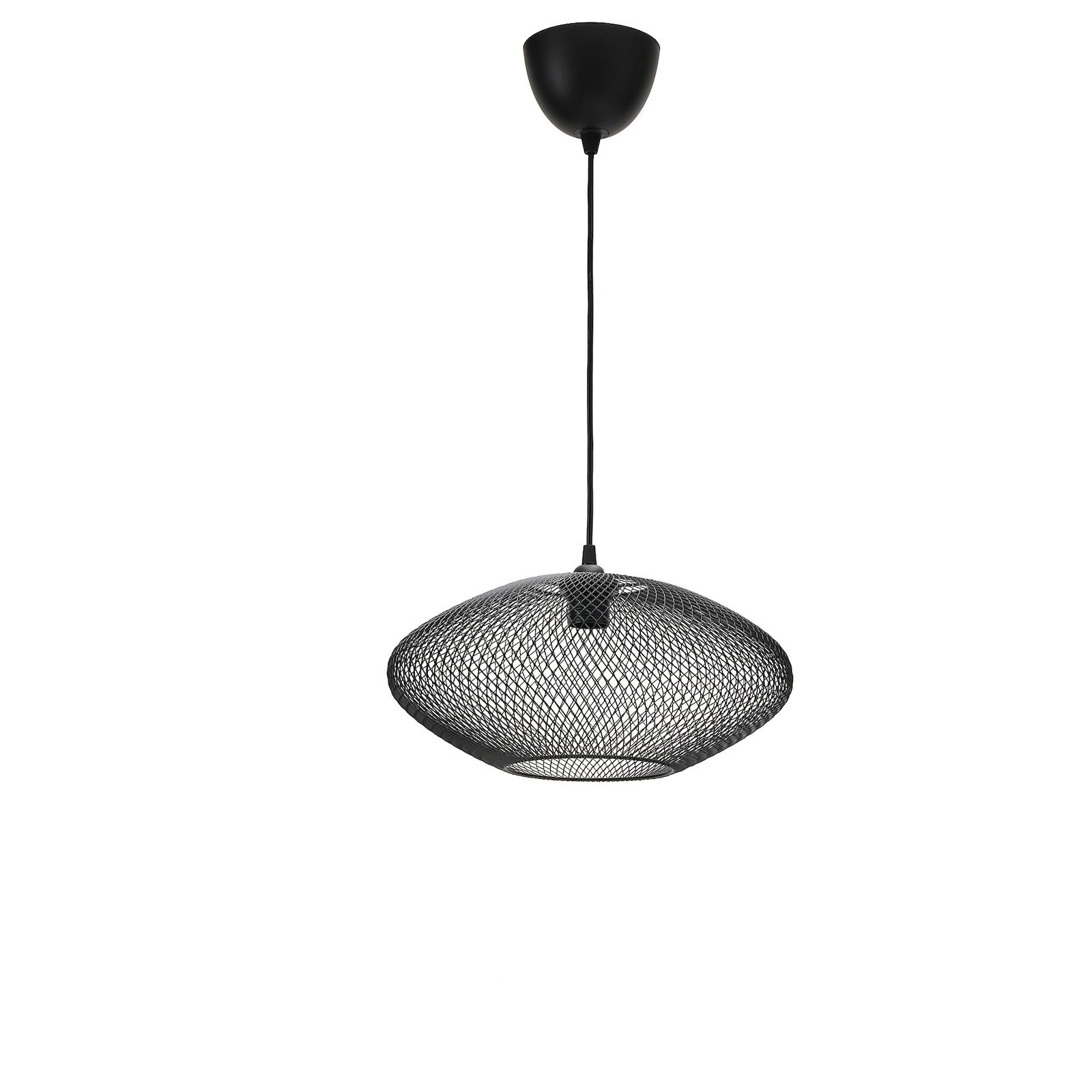 Luftmassa Hemma Suspension Motifs Ovales Noir 37cm Ikea Canada Ikea Ikea Pendant Light Decorative Light Bulbs Pendant Lamp