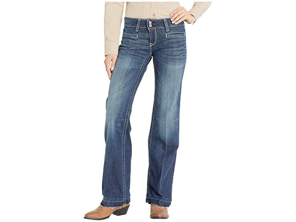 Ariat Trouser Billie Jeans in Indio Indio Womens Jeans Vintage style meets modern Western cool in the Ariat Trouser Billie Jeans Trouser jeans feature a straight thigh th...