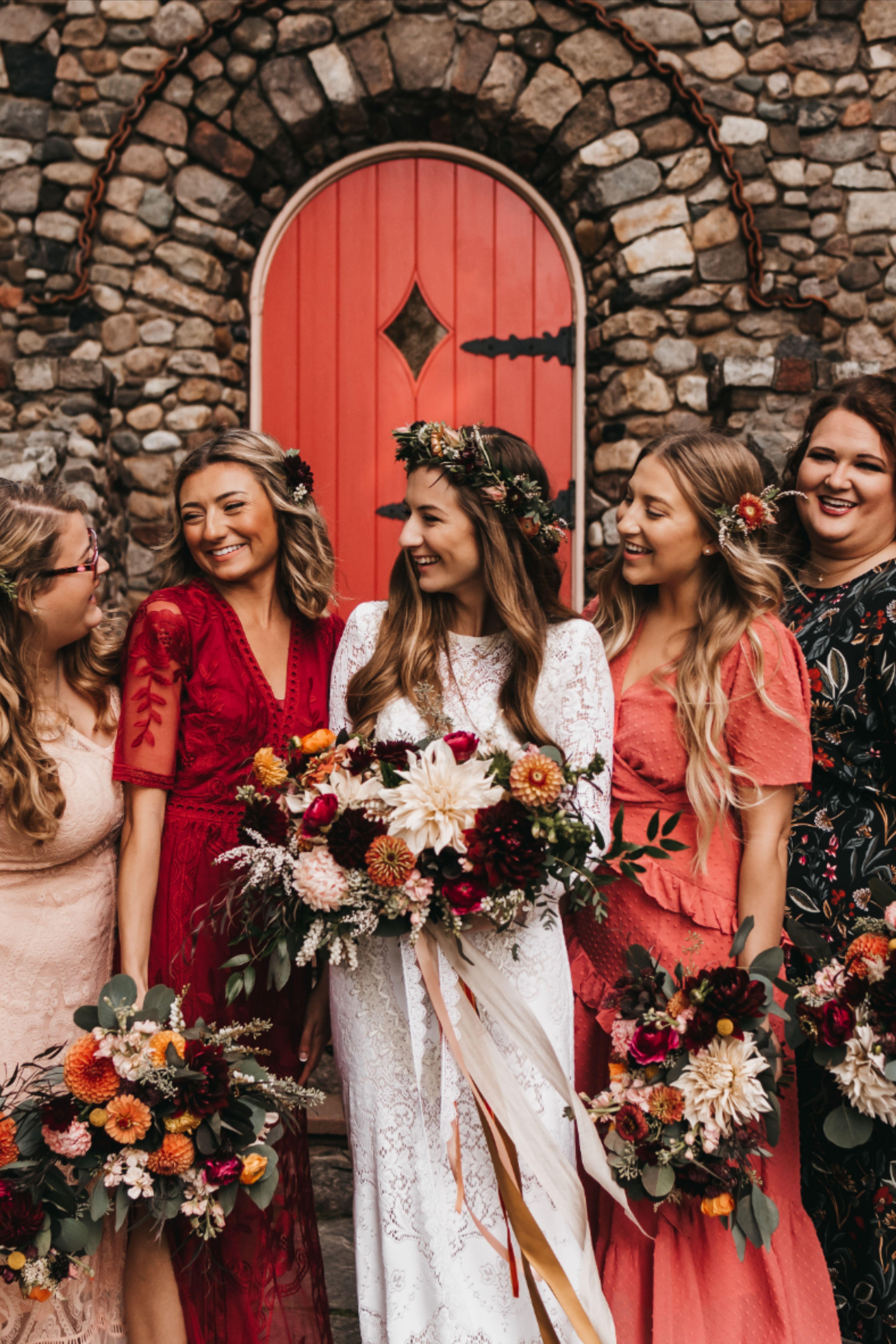 Mix and match bridesmaid dresses   Mix n match bridesmaid, Boho ...