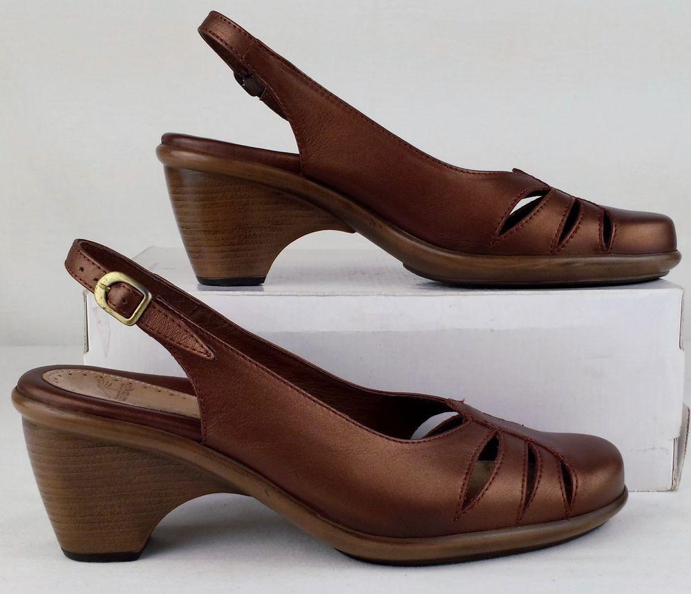 634b74892c6 Dansko Women s Copper Rue Calf Leather Slingback Pumps Sandals Shoes Size  39 8.5  dansko  Slingbacks
