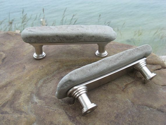 Genial SLATE STONE Cabinet Pulls RUSTIC Cabinet By Lakehousetreasury, $30.00