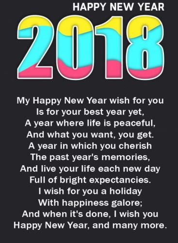 happy new year 2018 greetings to wish friends family one thing with gazing too frequently into the past is that we may turn around to find the future has