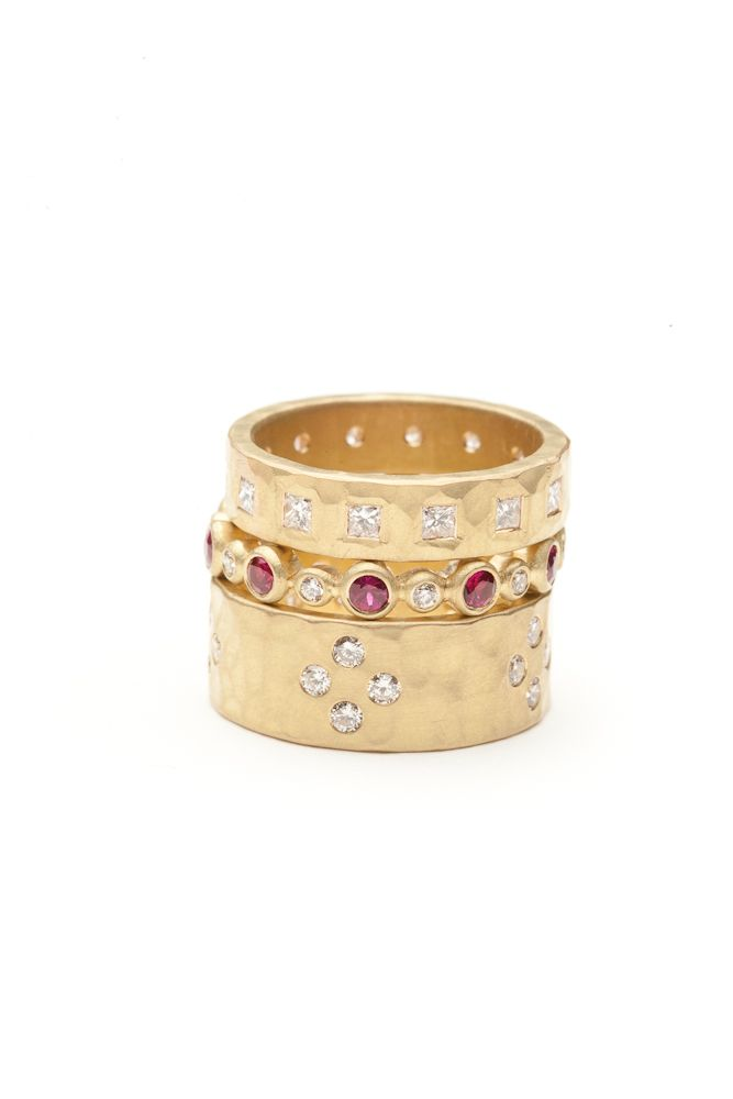 9f1300969c1d Annie Fensterstock rings. Available at Amanda Pinson Jewelry. Shop  http