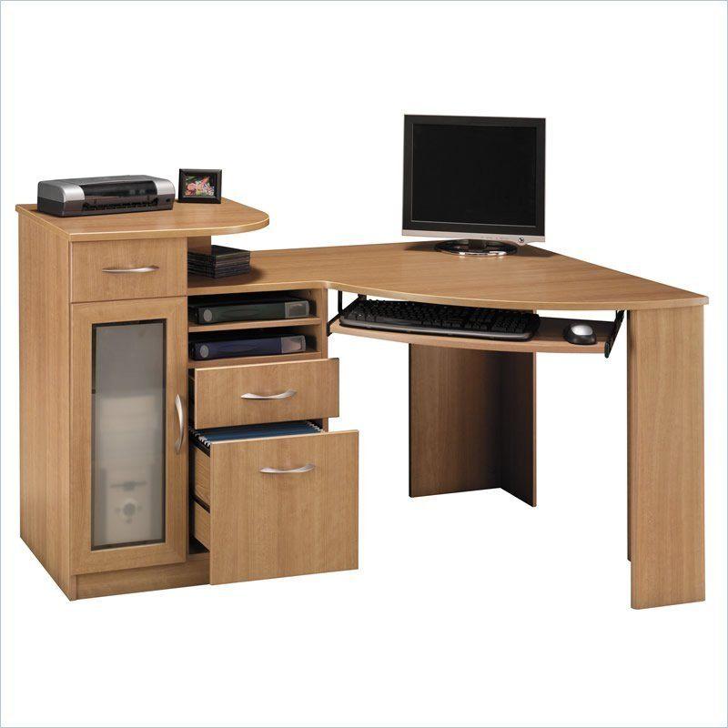 Bush Furniture Vantage Corner Home Office Wood Computer Desk In
