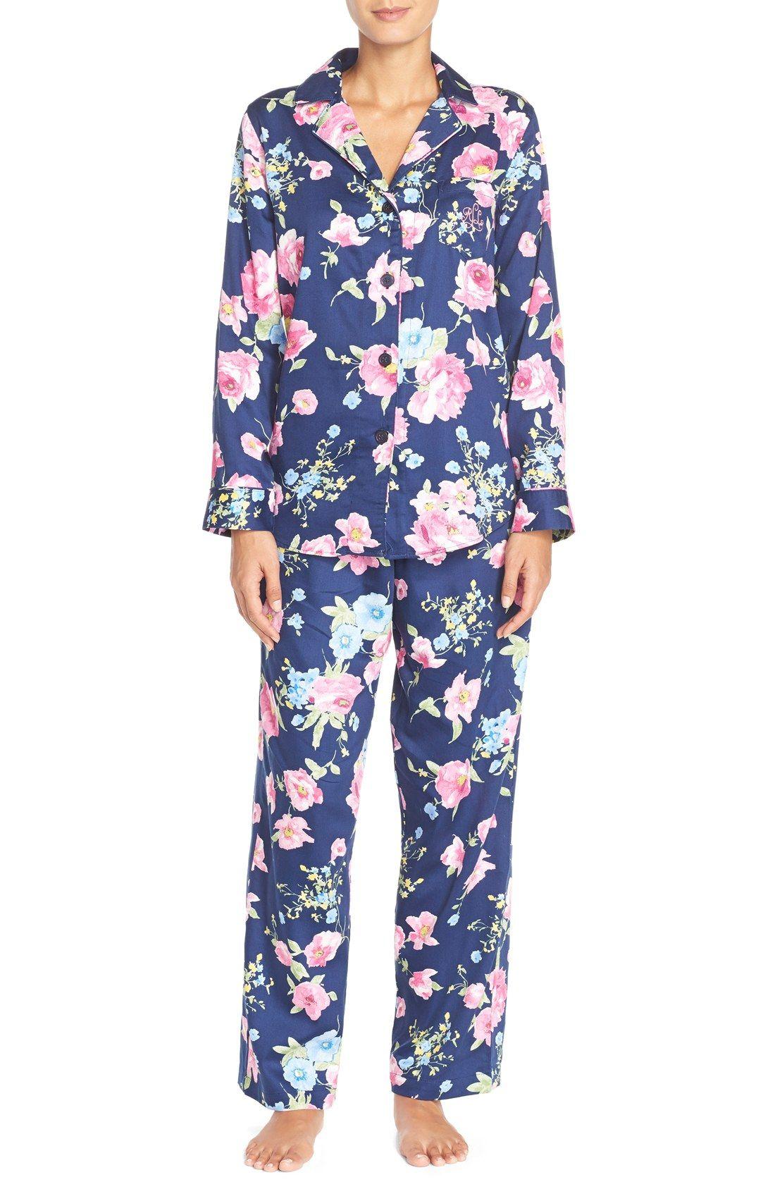 2b09e4b0e64d Lauren Ralph Lauren Print Sateen Pajamas