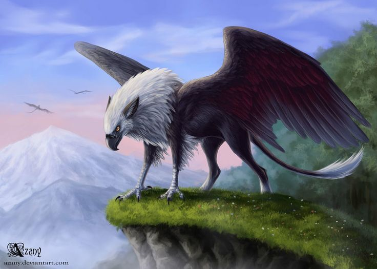 Griffin dawn by *Azany on deviantART #griffin #gryphon