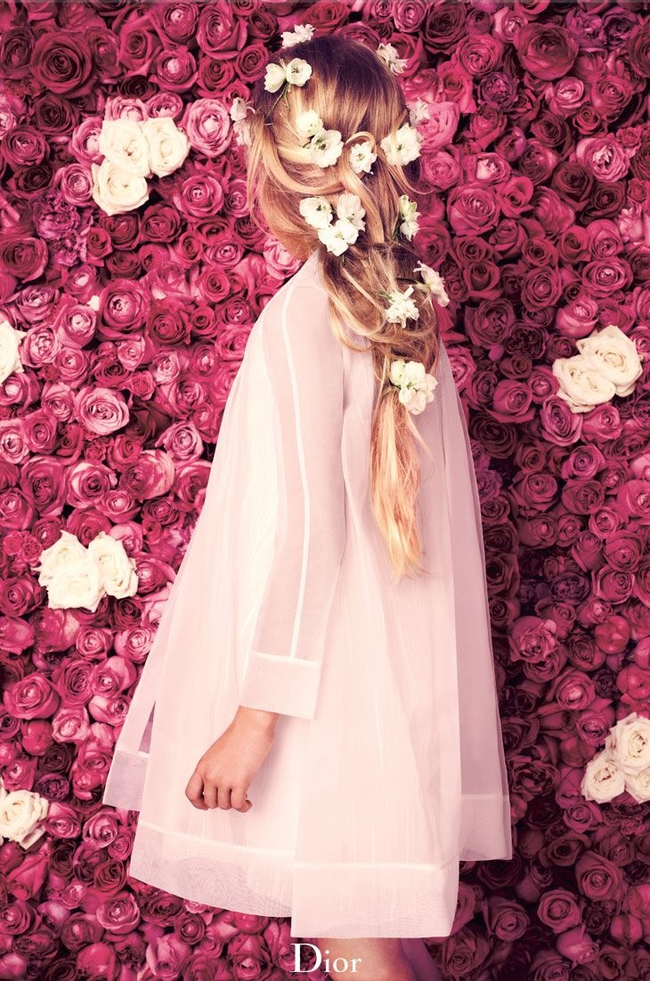 ❀ Flower Maiden Fantasy ❀ beautiful photography of women and flowers - Dior