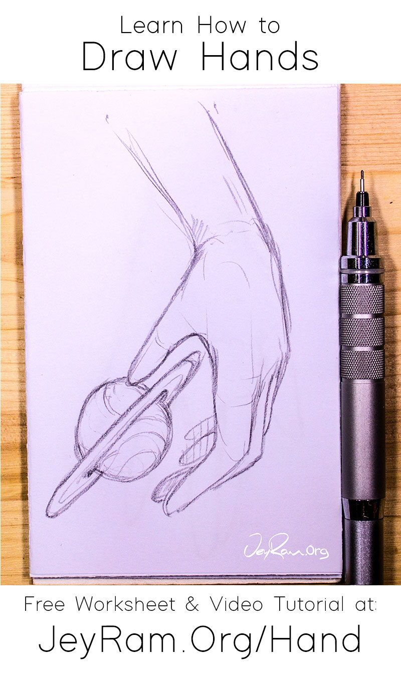 How To Draw Hands Free Worksheet Video Tutorial In 2020 How To Draw Hands Free Hand Drawing Videos Tutorial