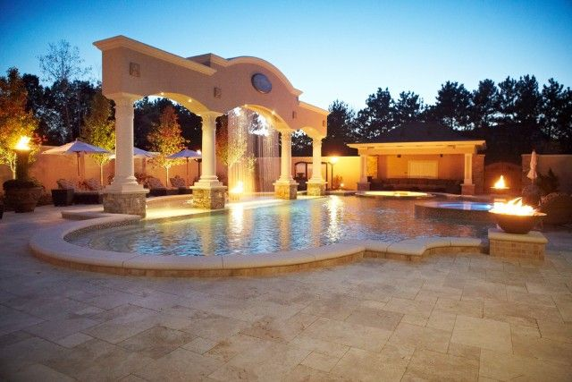 Unique Patios And Back Yards Pictures | Cascade Luxury Custom Home And  Backyard Resort