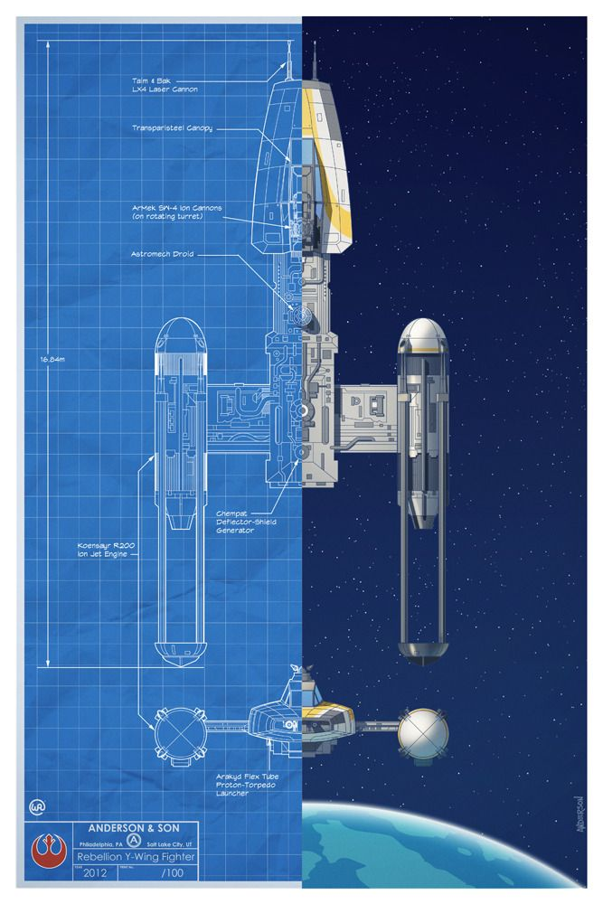 Blueprint style star wars poster art featuring the spacecraft blueprint style star wars poster art featuring the spacecraft fighters that were used in the epic battle of yavin by will anderson and tim anderson malvernweather Images