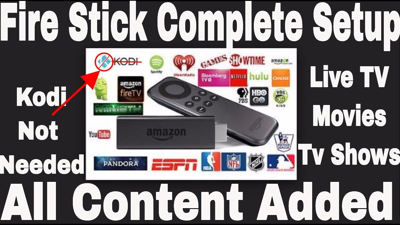 Can You Watch Live Tv On Kodi Fire Stick Fire Stick Complete Set Up Without Kodi Drop Kodi Computer Not Neede Amazon Tv Shows Amazon Shows Youtube
