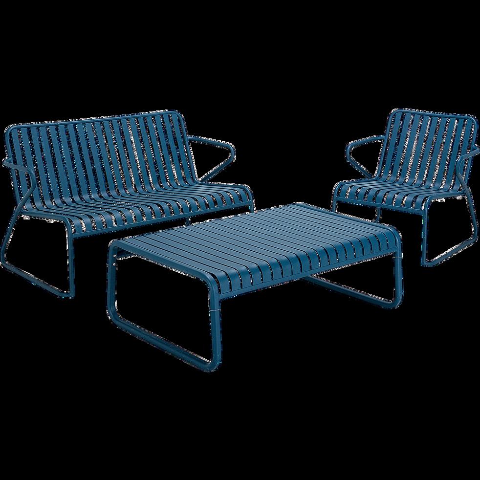 Fauteuil De Jardin En Aluminium Bleu Figuerolles Doume Fauteuils De Jardin Alinea En 2020 Fauteuil Jardin Fauteuil Mobilier Jardin