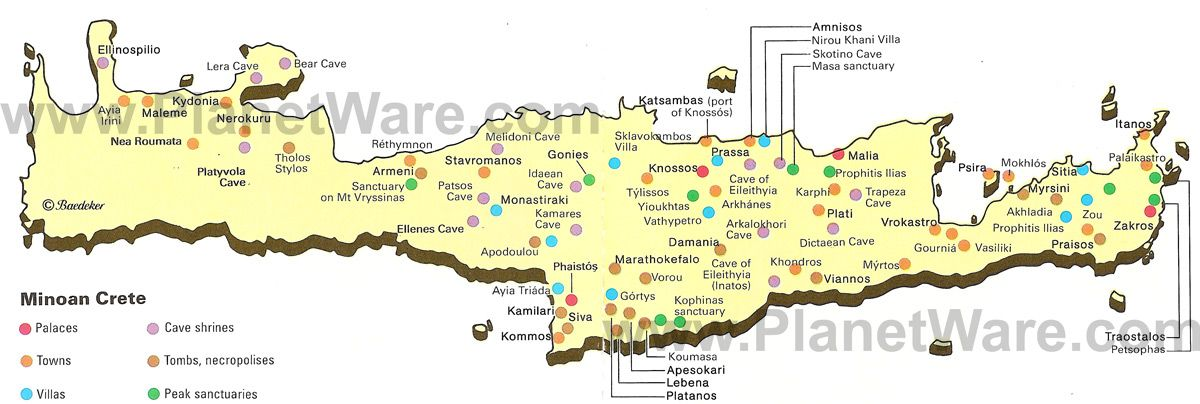 Map of minoan crete ancient greece pinterest minoan crete and map of minoan crete gumiabroncs Choice Image