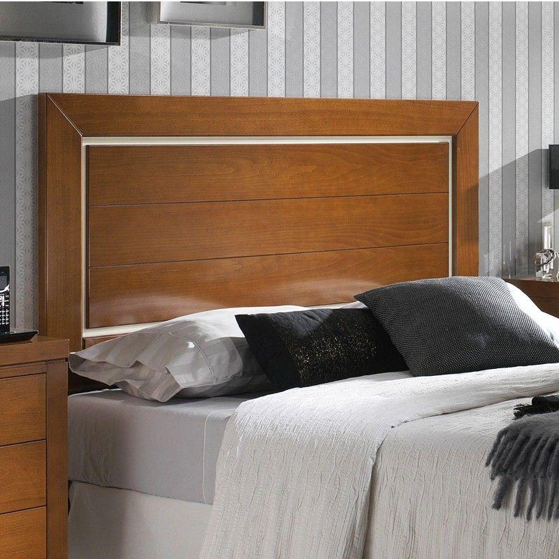 Cabecero de cama recto con 2 rayas horizontales madera - Cabeceros de cama en madera ...
