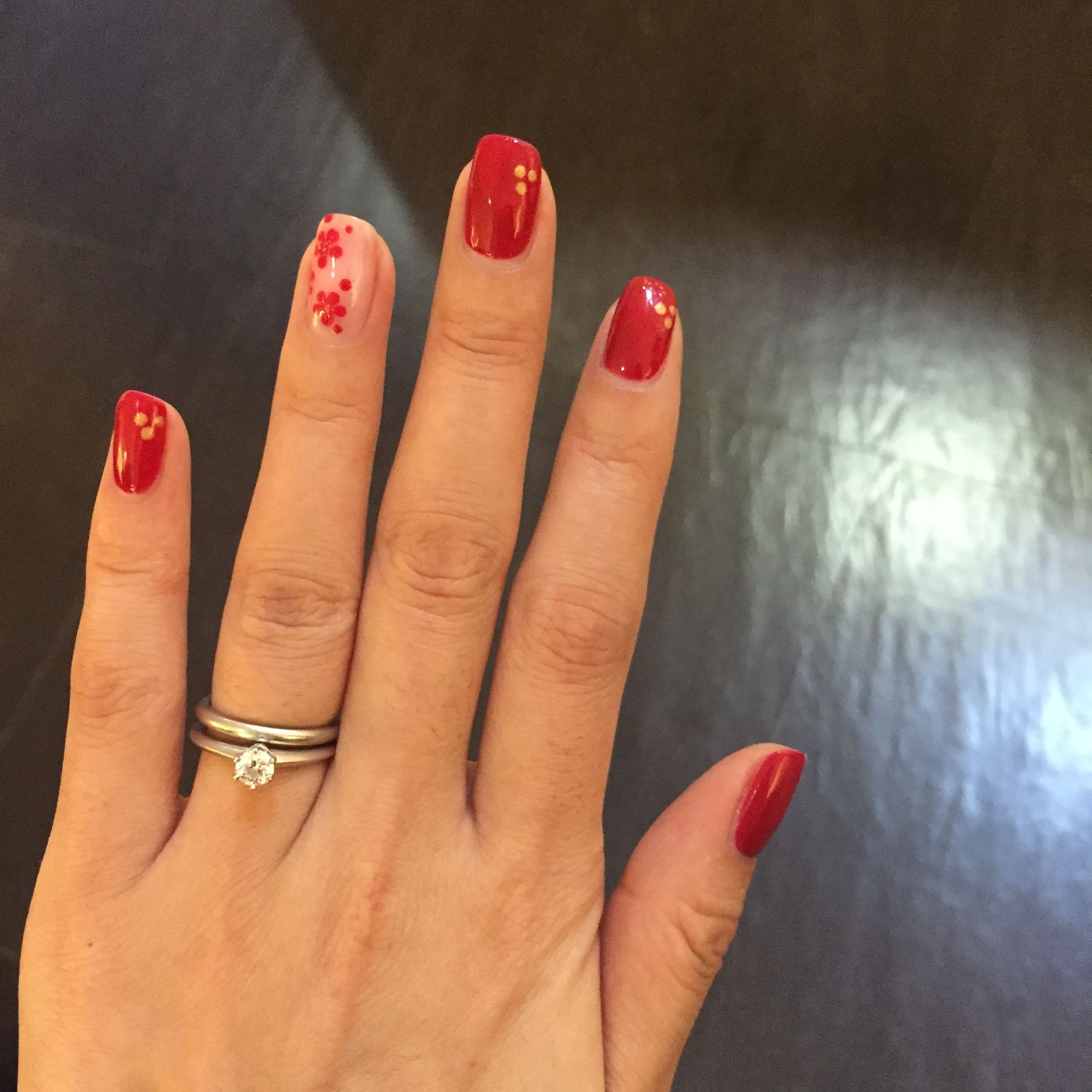 Red nails for Chinese New Year Red nails, New years nail
