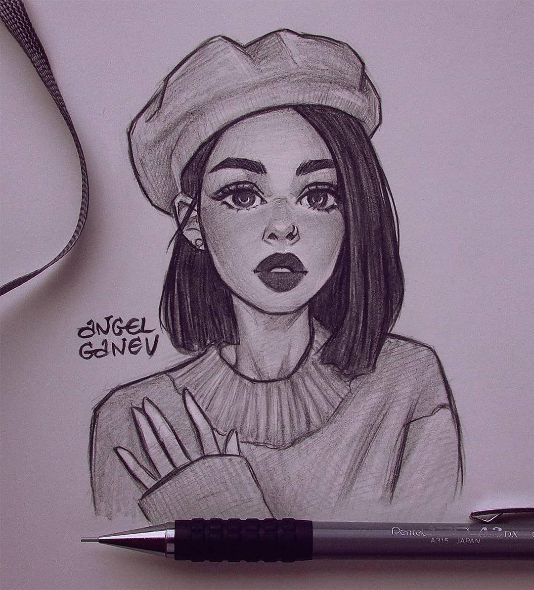 Art Sketches Art Sketches Easy Art Sketches Aesthetic Art Sketches Pencil In 2020 Art Drawings Sketches Simple Girl Drawing Sketches Art Drawings Sketches Creative