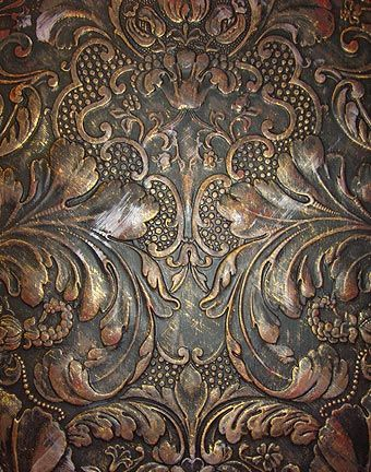 Lincrusta Aged Metal Effect How To Achieve This Apply
