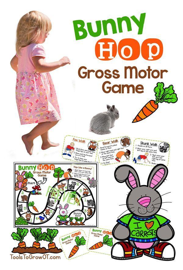 Bunny Hop Gross Motor Game Gross Motor Gross Motor Activities Gross Motor Skills
