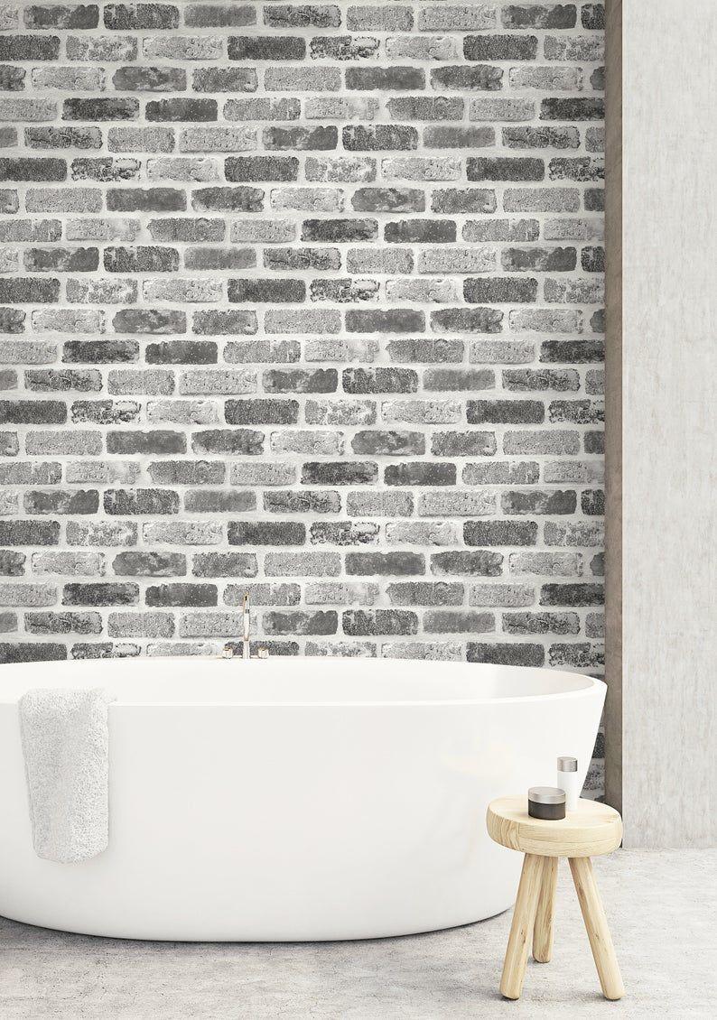Self Adhesive Wallpaper Brick Wallpaper Peel And Stick Etsy In 2020 Brick Wallpaper Brick Wallpaper Peel And Stick Painted Brick Walls