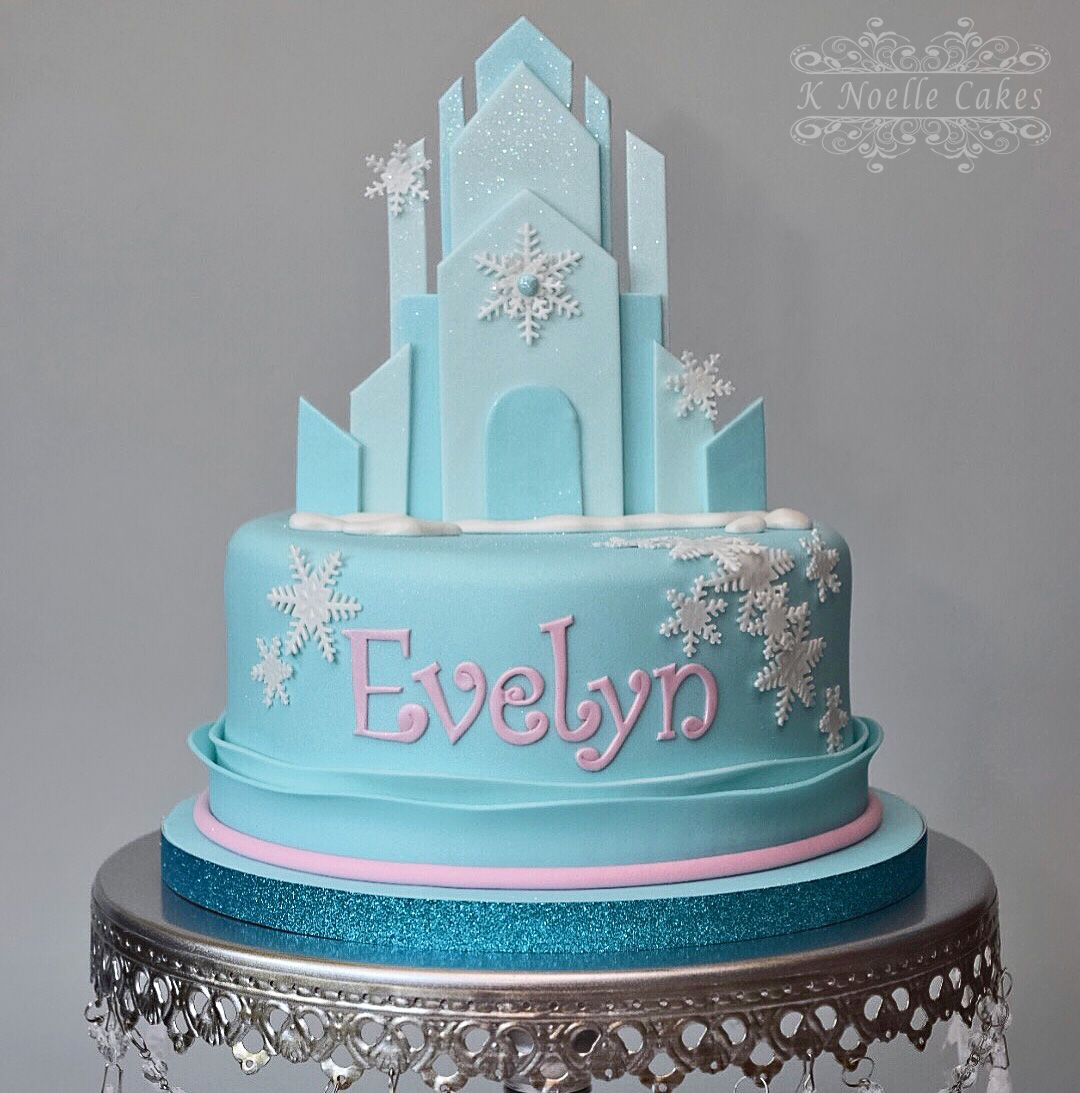 Incredible Frozen Ice Castle Cake By K Noelle Cakes Frozen Cake Disney Funny Birthday Cards Online Overcheapnameinfo