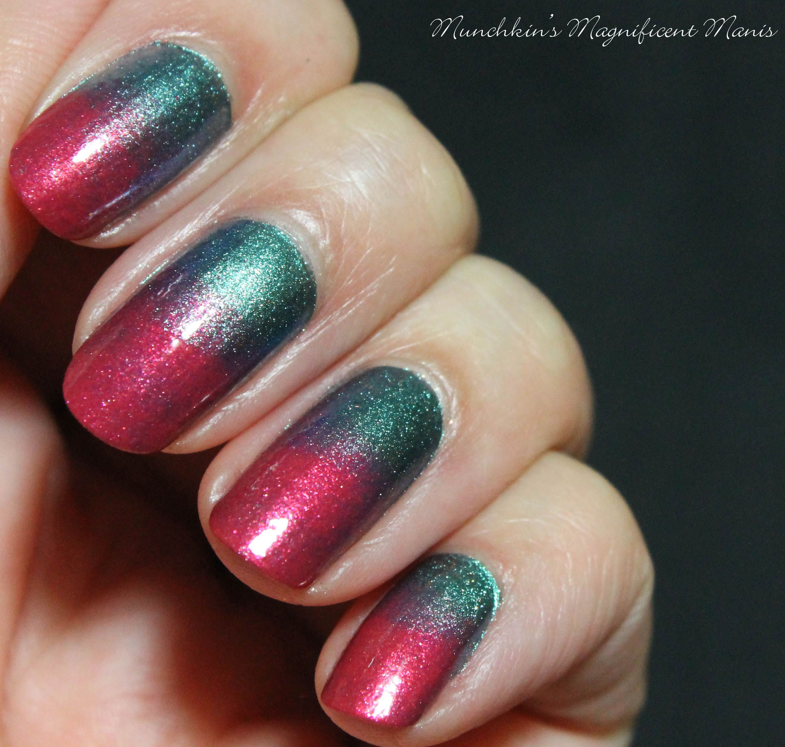 Lava Meets Water- Gradient Nail Design - Nagel