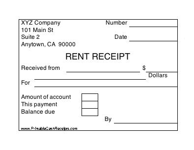 A Set Of Four Identical Rent Receipts With Room To Note Whether There Is Still A Balance Due Being A Landlord Funny Good Morning Quotes Free Receipt Template