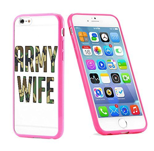 Popular Apple iPhone 6 or 6s Army Wife USA Military Gift for Teens TPU Bumper Case Cover Mobile Phone Accessories Hot Pink MonoThings http://www.amazon.com/dp/B017HTJ43A/ref=cm_sw_r_pi_dp_qS9nwb1GRDS43