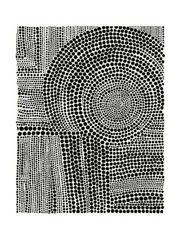 'Clustered Dots B' Premium Giclee Print - Natasha