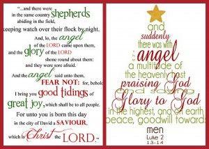 Free Printable Christmas Word Art Luke 2 Etc Free