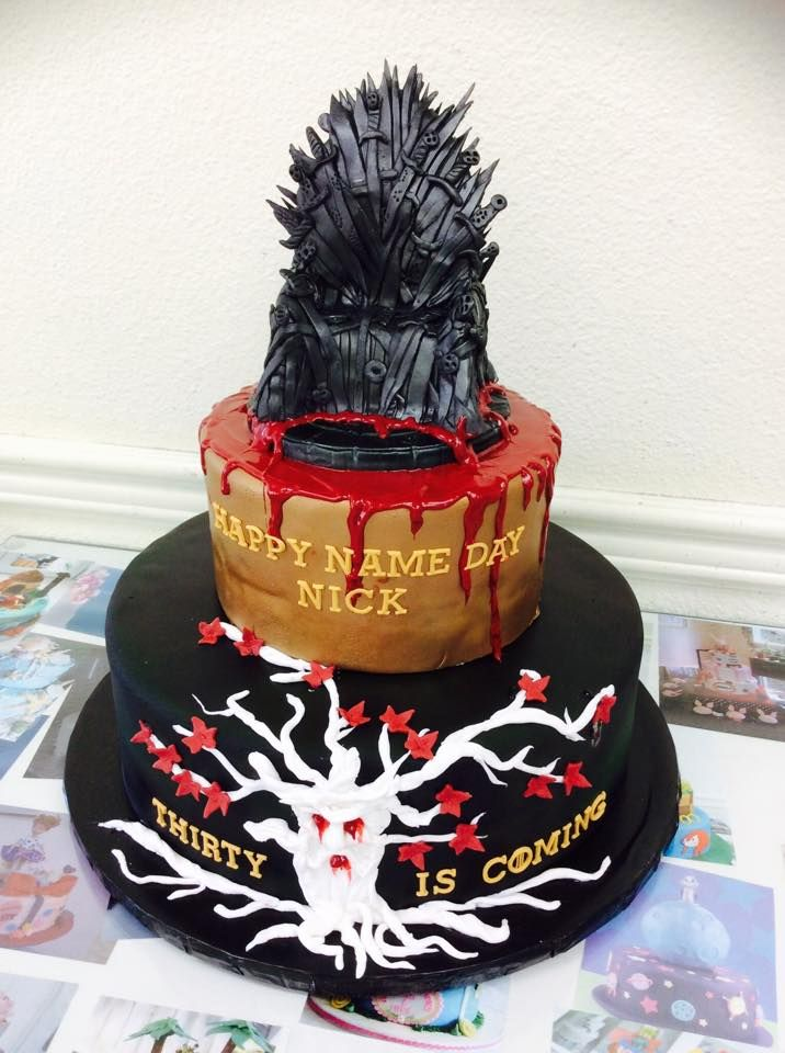 Ordered A Game Of Thrones Cake From A Local Bakery I Think It - Cake birthday games