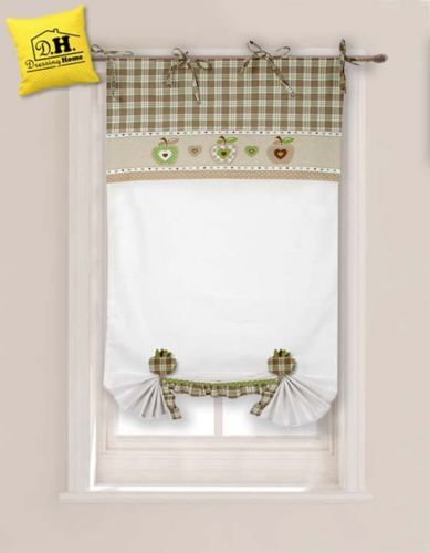 Tenda finestra con due embrasse angelica home country for Angelica home e country tende