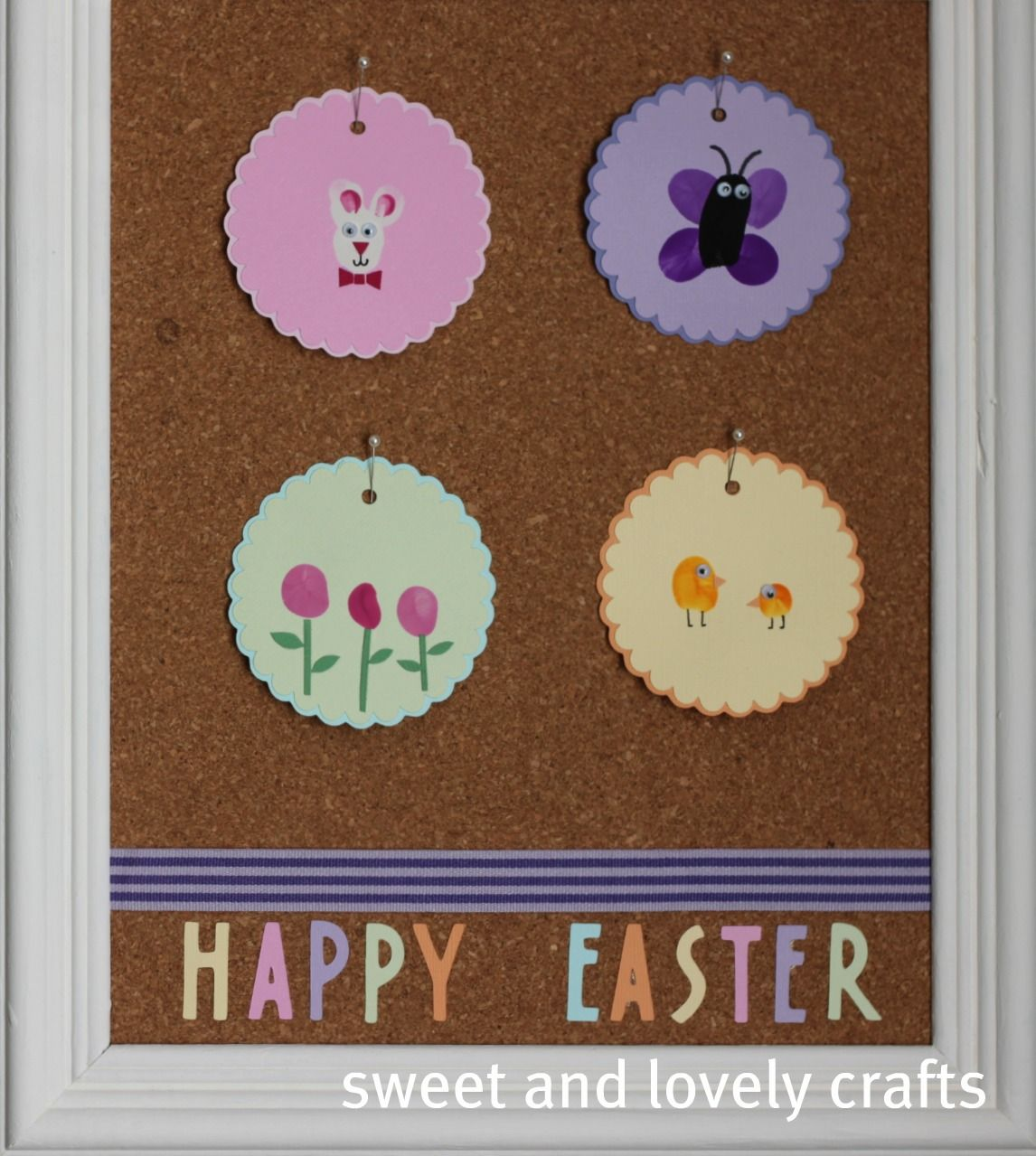 sweet and lovely crafts: Easter Thumbprint Art