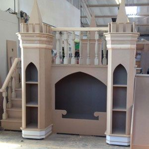 luxury girls princess castle bed made to measure
