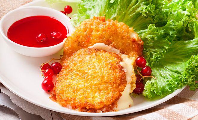 Вафельно-сырная закуска скрасной смородиной   Lekorna - производитель вафельных полуфабрикатов.