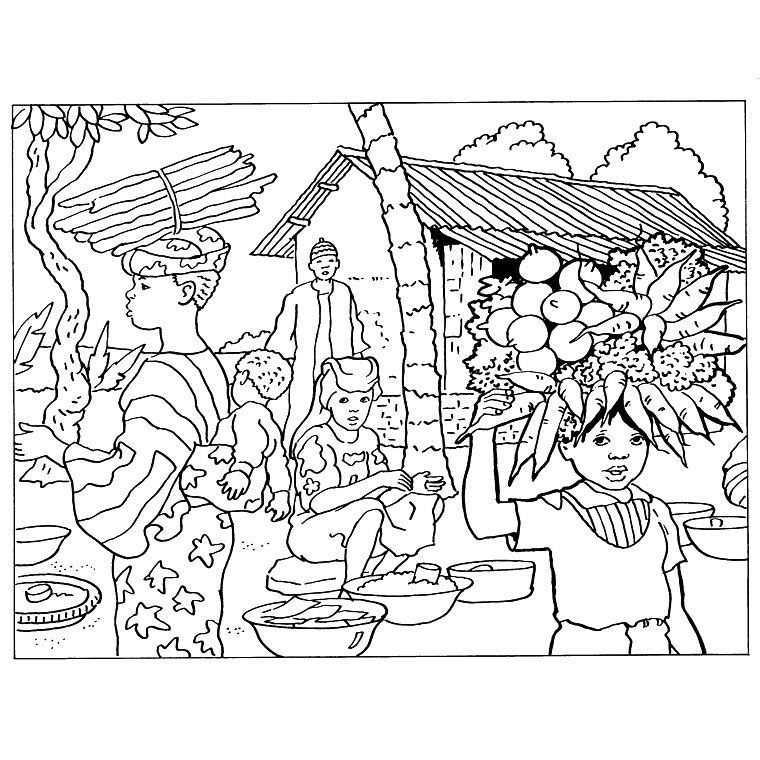 Coloriage africain a imprimer my blog - Masque africain a imprimer ...